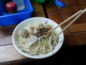 Wanton dry noodle...just delicious!