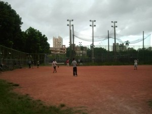 So much fun! Playing softball!